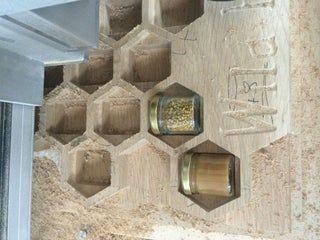 CNC Machining Project: Wild Hives Honey Display