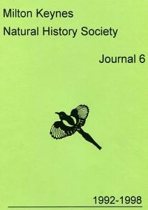 Milton Keynes Natural History Society Journal 6 1992-19998 Journal 6