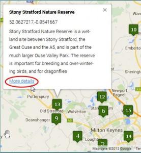 Wildlife Sites map
