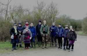 Group photo Milton Keynes Natural History Society at Otmoor 13 January 2018