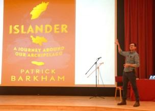 Patrick Barkham giving his talk