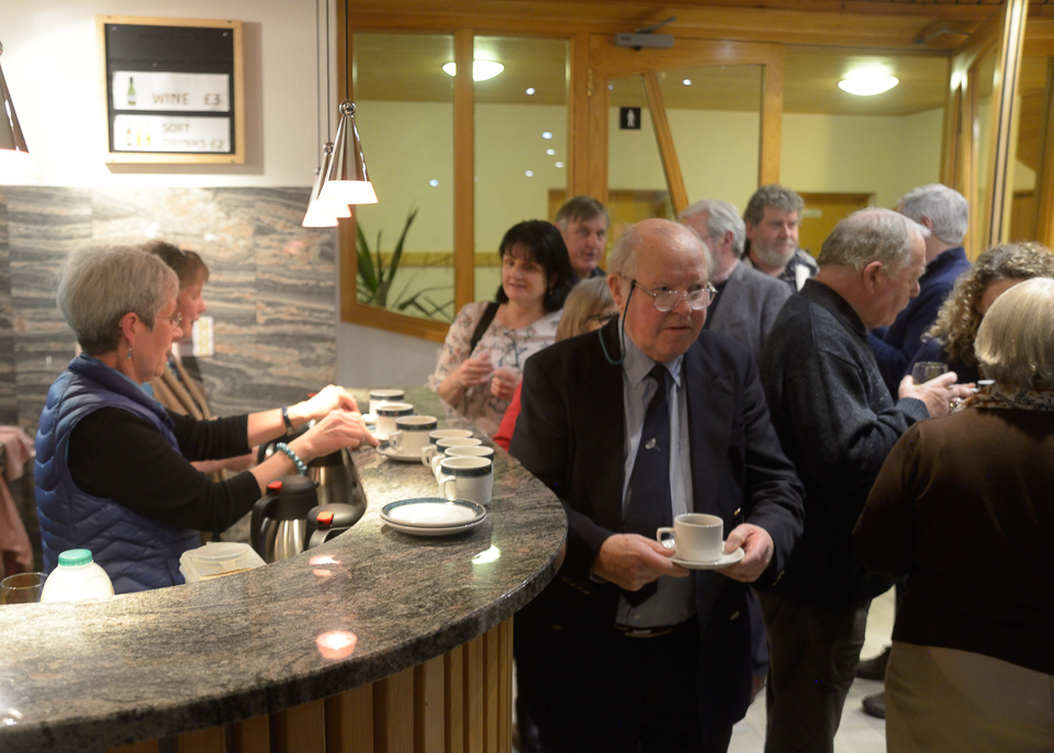 Refreshments are served in the interval