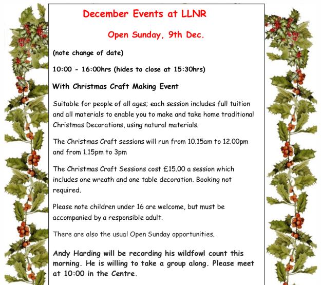 FoLLNR December 2018 events