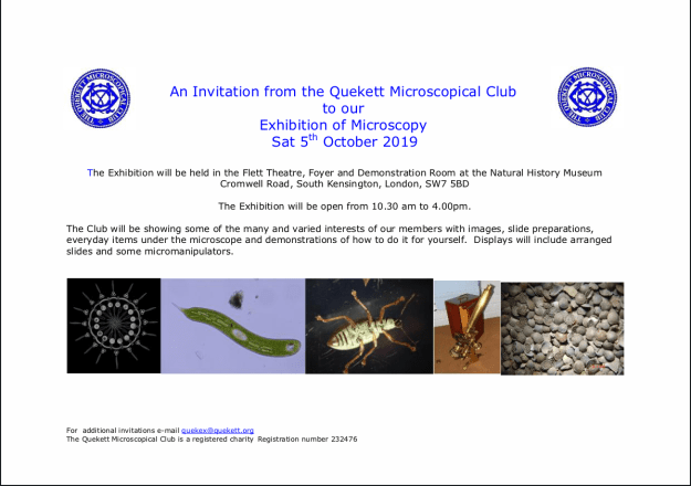 An Invitation from the Quekett Microscopical Club v1