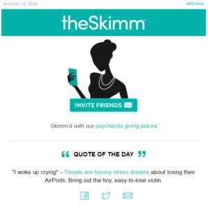 The Skimm social sharing