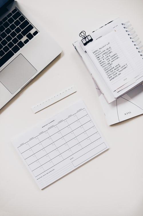 Establish your schedule of posts