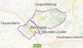 Kaart luchthavenvervoer in Beringen