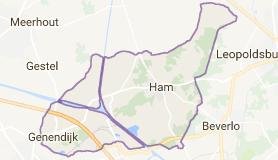 Kaart luchthavenvervoer in Ham