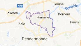 Kaart luchthavenvervoer in Hamme