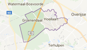 Kaart luchthavenvervoer in Hoeilaart