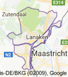 Kaart luchthavenvervoer in Lanaken