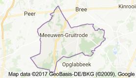 Kaart luchthavenvervoer in Meeuwen-Gruitrode