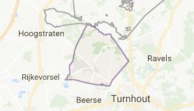 Kaart luchthavenvervoer in Merksplas