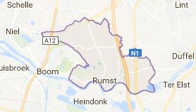 Kaart luchthavenvervoer in Rumst