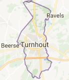 Kaart luchthavenvervoer in Turnhout