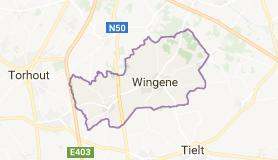 Kaart luchthavenvervoer in Wingene