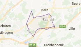 Kaart luchthavenvervoer in Zoersel