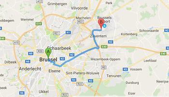 luchthavenvervoer van Brussel naar luchthaven Zaventem
