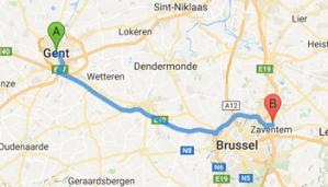 Luchthavenvervoer van Gent naar Zaventem