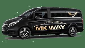 luchthavenvervoer taxi van Wellen