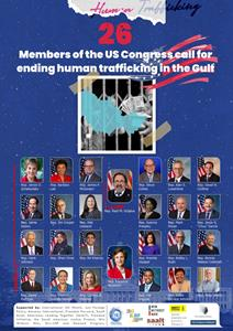 30 US congressmen call for urgent action on UAE and Middle East Human Trafficking