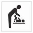 Icon of a person changing a baby on a change table.