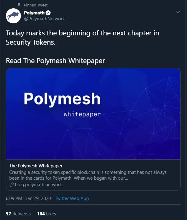 Polymesh on Aldebaran via Twitter
