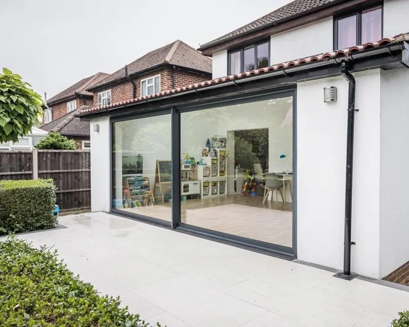exceed grey 4m aluminium sliding doors aspire doors