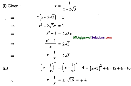 ICSE Class 9 Maths Question Paper 7 with Answers 10