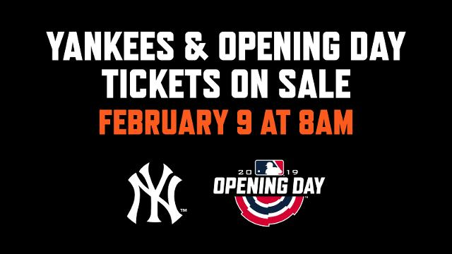 0b6dc2a6fd805 Opening Day and Yankees Single Game tickets on sale this Saturday