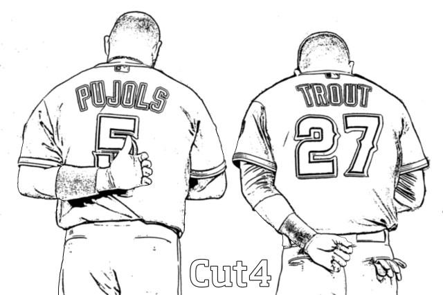 La dodgers baseball coloring pages