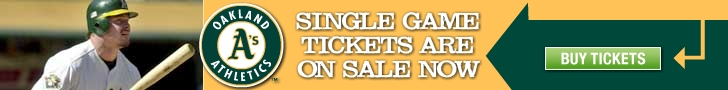 A's single game tickets are on sale now.