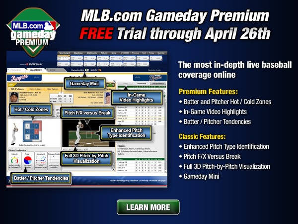 MLB.com Gameday Premium FREE Trial through April 26th
