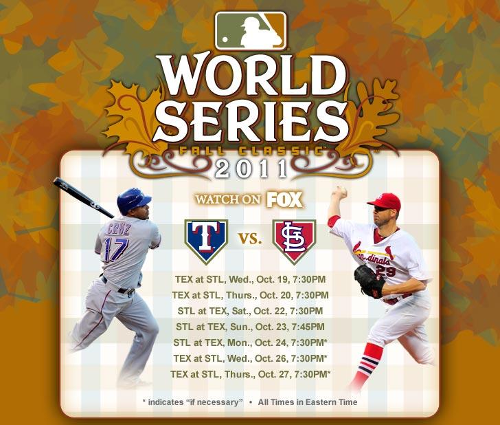 World Series Schedule. Watch on FOX