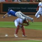 【動画】まるで映画のワンシーン コグランが捕手モリーナの頭上を華麗に飛び越えてホームイン|MLBファインプレー