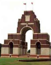 The Thiepval Memorial to The Missing on The Somme.
