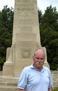 Bill Wicks at The Somme New Zealand Memorial