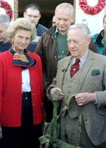 Madame Arlette Gondrée & Mr Richard Todd in front of the Pegasus Bridge Café
