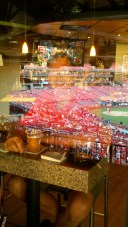 Busch Stadium infield reflects off the glass of the Champions Club!