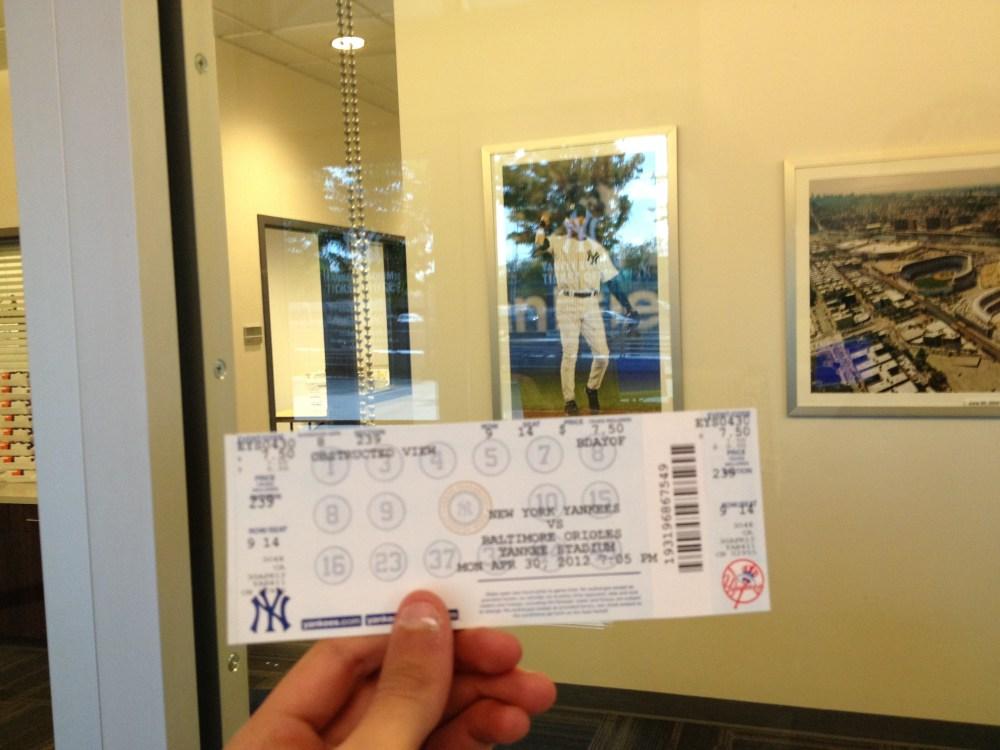 4/30/12 Orioles at Yankees: Yankee Stadium (1/6)