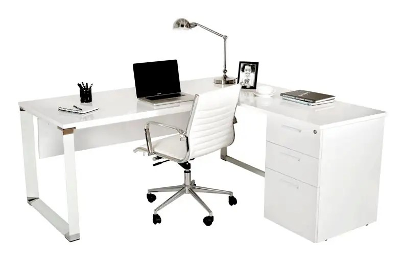 Zenith Series High Gloss Desk Affordable Office