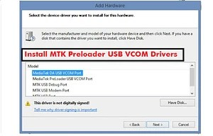 Mediatek mt65xx usb vcom drivers