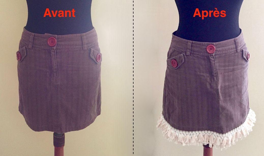 Allonger une jupe trop courte