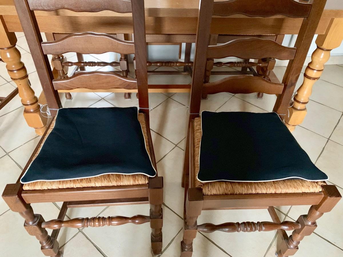 Dessus de chaise passepoilés