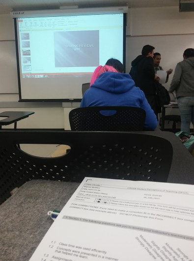 Last class of the week.