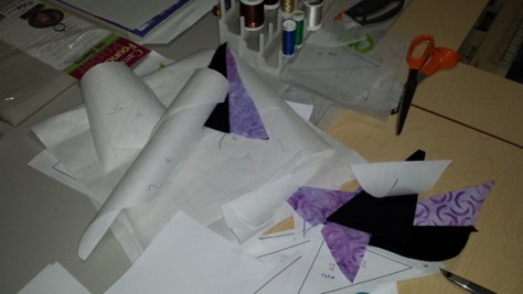Evidence of the paper piecing struggle