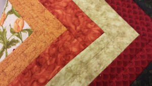 Close up of decorative stitching