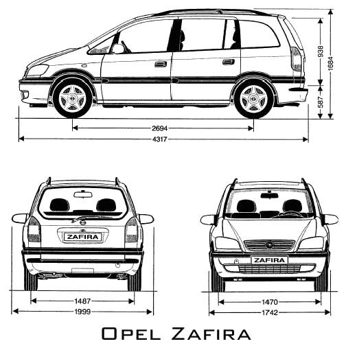 Opel Zafira A 1998 - 2005