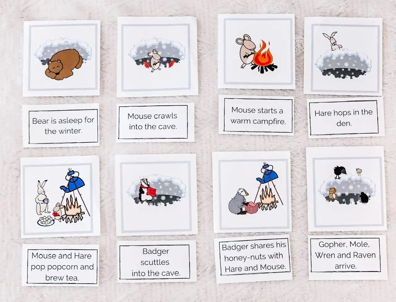 Download Bear Snores On Sequencing Cards Literacy