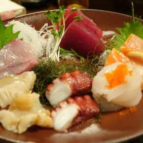 Fresh sashimi plate by Chef Kaz